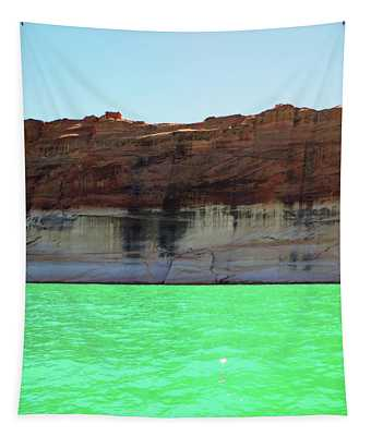 Cliff At Lake Powell Tapestry