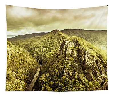 Cliffs, Steams And Valleys Tapestry