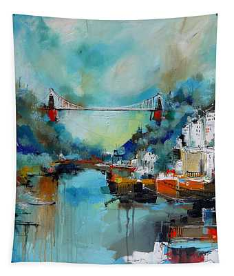 Clifton Suspension Bridge Bristol England Tapestry