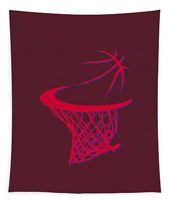Clippers Basketball Hoop Tapestry