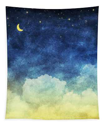 Cloud And Sky At Night Tapestry