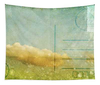Cloud And Sky On Postcard Tapestry