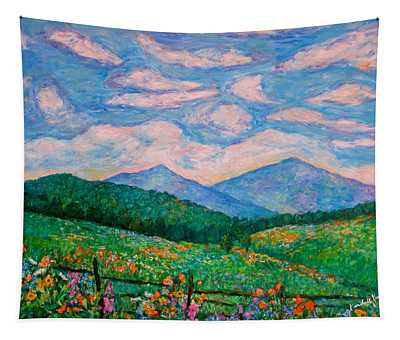 Cloud Swirl Over The Peaks Of Otter Tapestry