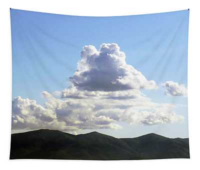 Clouds Above The Italian Mountains Tapestry