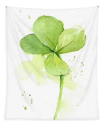 Clover Watercolor Tapestry