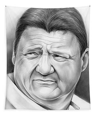 Coach Orgeron Tapestry