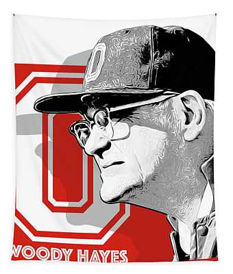 Coach Woody Hayes Tapestry