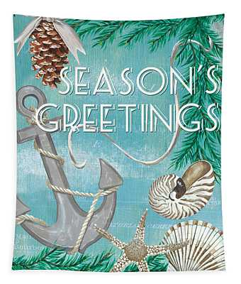 Coastal Christmas Card Tapestry