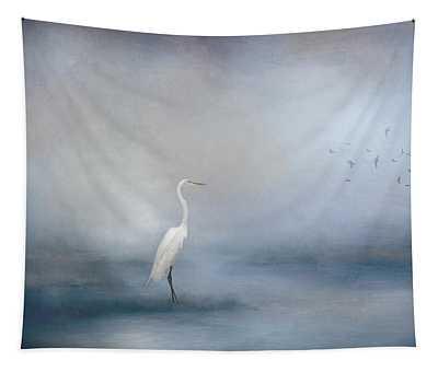 Coastal Egret Tapestry