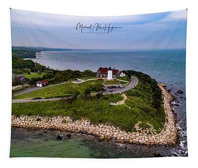 Coastal Nobska Point Lighthouse Tapestry