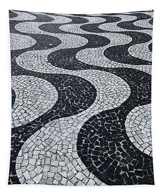 Cobblestone Waves Tapestry