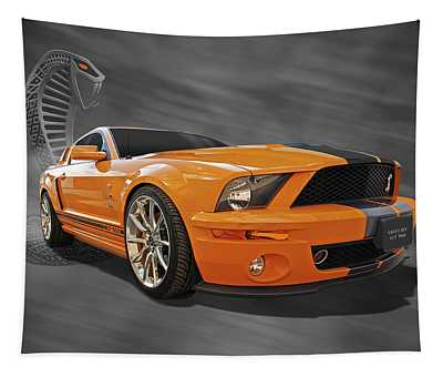 Cobra Power - Shelby Gt500 Mustang Tapestry