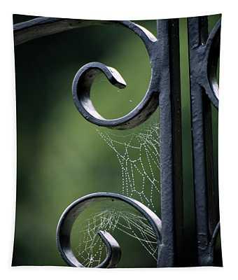 Cobwebs On Gate Tapestry
