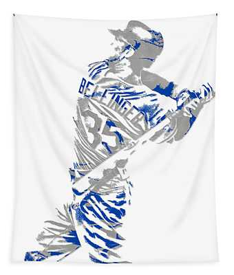 Cody Bellinger Los Angeles Dodgers Pixel Art 2 Tapestry