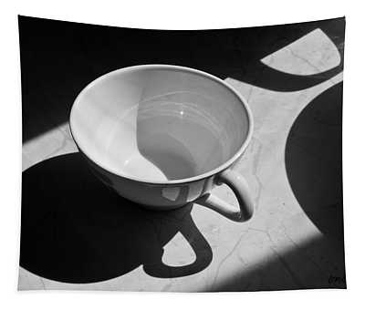 Coffee Cup In Light And Shadow Tapestry