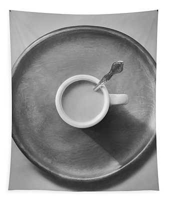 Coffee On A Wooden Tray Tapestry