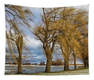 Cold Windy Day Tapestry