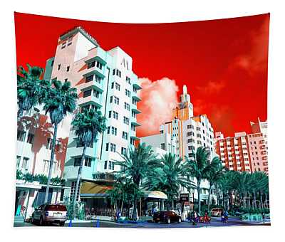 Collins Avenue Pop Art South Beach Tapestry