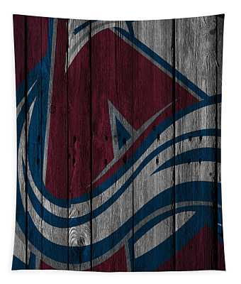 Colorado Avalanche Wood Fence Tapestry