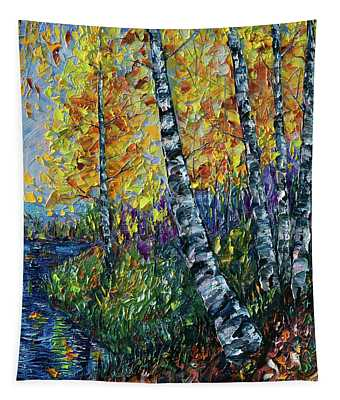 Glimpses Of Colorado Fall Colors Tapestry