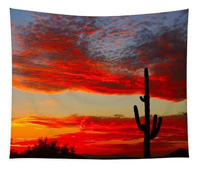 Colorful Arizona Sunset Tapestry