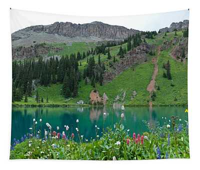 Colorful Blue Lakes Landscape Tapestry