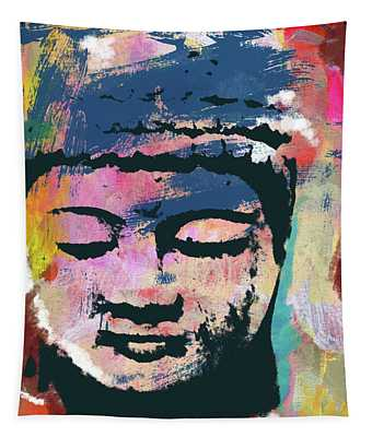 Colorful Buddha 1- Art By Linda Woods Tapestry