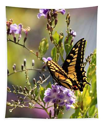Colorful Butterfly Tapestry
