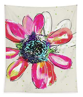 Colorful Daisy- Art By Linda Woods Tapestry