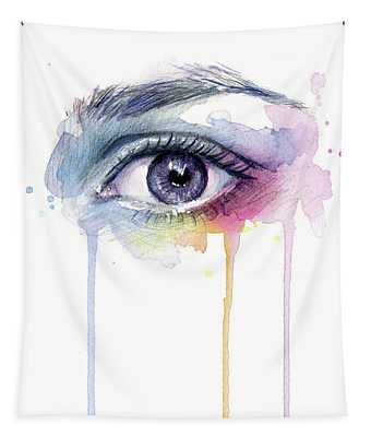 Colorful Dripping Eye Tapestry