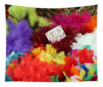 Colorful Easter Feathers Tapestry