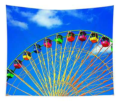 Colorful Ferris Wheel Tapestry