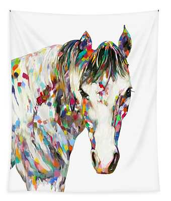 Colorful Horse Tapestry