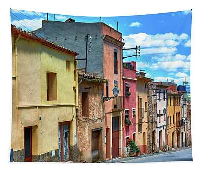 Colorful Old Houses In Tarragona Tapestry