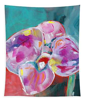 Colorful Orchid- Art By Linda Woods Tapestry