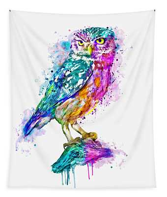 Colorful Owl Tapestry