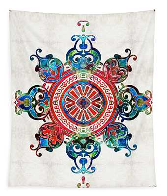 Colorful Pattern Art - Color Fusion Design 3 By Sharon Cummings Tapestry