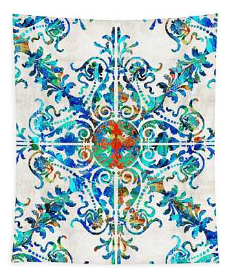 Colorful Pattern Art - Color Fusion Design 6 By Sharon Cummings Tapestry