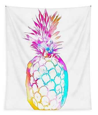 Colorful Pineapple Tapestry