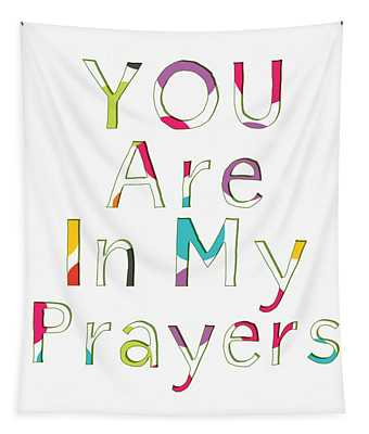 Colorful Prayers- Art By Linda Woods Tapestry