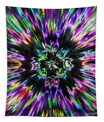 Colorful Tie Dye Abstract Tapestry