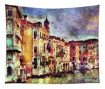 Colorful Venice Canal Tapestry