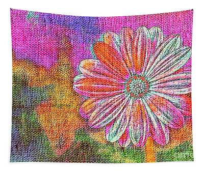 Colorful Watercolor Flower Tapestry