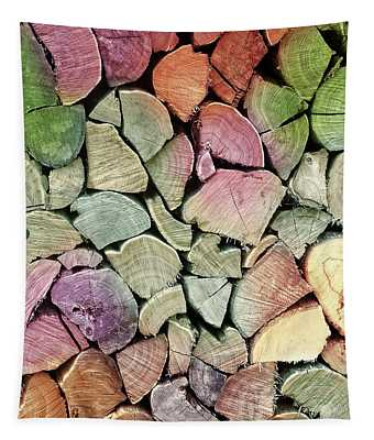 Colorful Wood Tapestry