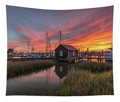 Colors Of Shem Creek - Mt. Pleasant Sc Tapestry
