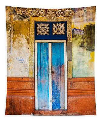 Colourful Door Tapestry