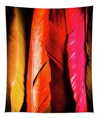 Colourful Feather Art Tapestry