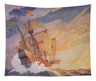 Columbus Crossing The Atlantic Tapestry