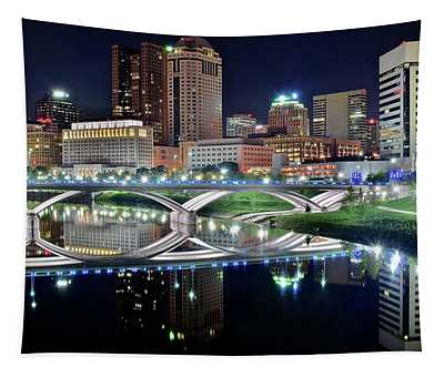 Columbus Over The Scioto Tapestry