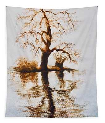 Como Lake Reflections Tapestry